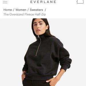 Everlane cropped sweatshirt, sz M, in STONE color